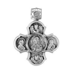 Серебряный крестик Святые Образы 000140629 000140629 от Zlato
