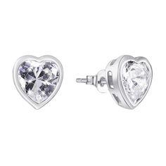 Серебряные серьги-пуссеты с фианитами 000140539 000140539 от Zlato