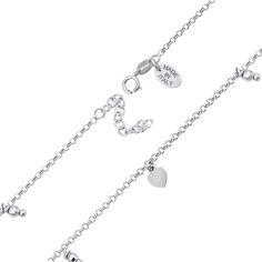 Серебряный браслет с подвесками 000140099 000140099 17 размера от Zlato