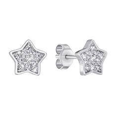 Серебряные серьги-пуссеты с фианитами 000140537 000140537 от Zlato