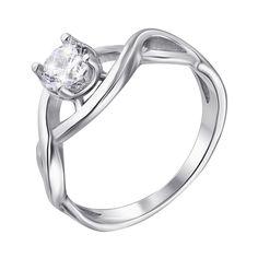 Серебряное кольцо с цирконием 000140012 000140012 17 размера от Zlato