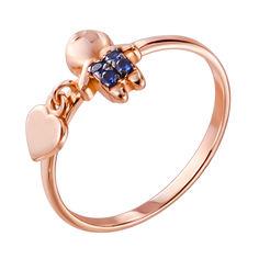 Кольцо из красного золота с фианитами 000140007 000140007 19 размера от Zlato