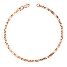 Браслет из красного золота в панцирном плетении 000126122 000126122 19 размера от Zlato
