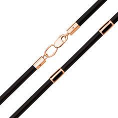 Шнурок из каучука с золотыми вставками и застежкой 000125982 000125982 50 размера от Zlato