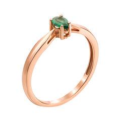Золотое кольцо Марика в красном цвете с изумрудом 000126144 18 размера от Zlato