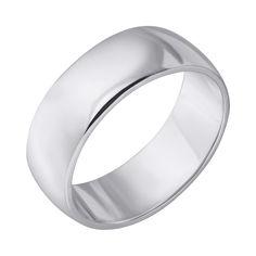 Серебряное обручальное кольцо 000121298 000121298 18 размера от Zlato