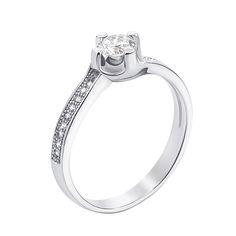 Серебряное кольцо с фианитами 000127122 000127122 17.5 размера от Zlato