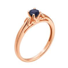 Кольцо в красном золоте Лана с сапфром 000126801 16.5 размера от Zlato