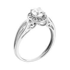 Серебряное кольцо с узорами и фианитами 000126837 000126837 16.5 размера от Zlato