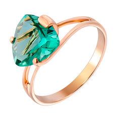 Кольцо из красного золота с зеленым кварцем 000131995 000131995 18 размера от Zlato
