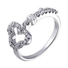 Серебряное кольцо с цирконием 000139911 000139911 16.5 размера от Zlato