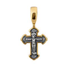 Серебряный крестик Благословение с чернением и евро позолотой 000008748 000008748 от Zlato