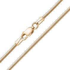 Золотой браслет в плетении плоский снейк, 3мм 000097501 000097501 19.5 размера от Zlato