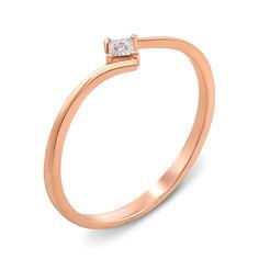 Золотое кольцо в комбинированном цвете с бриллиантом 000135798 000135798 17 размера от Zlato