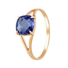 Кольцо из красного золота с сапфиром 000099197 000099197 19 размера от Zlato