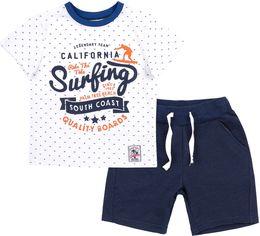Костюм (футболка + шорты) Бемби КС617 110 см Белый с синим (06617012240.181) от Rozetka