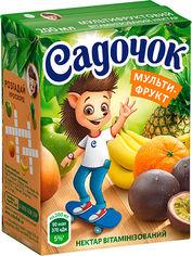 Упаковка Нектара Садочок Мультифруктовый нектар витаминизированный 0.2 л х 27 шт (4823063105255) от Rozetka