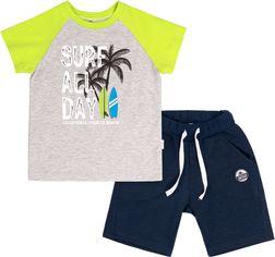 Костюм (футболка + шорты) Бемби КС616 104 см Салатовый с синим (06616012239.T80) от Rozetka