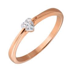 Золотое кольцо с камнем Swarovski 000049403 000049403 17.5 размера от Zlato