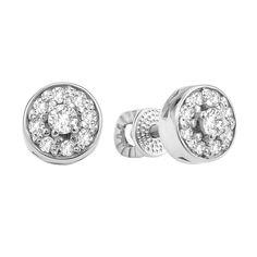 Серебряные серьги-пуссеты с фианитами 000106914 000106914 от Zlato