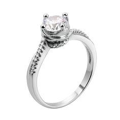 Серебряное кольцо с кристаллами циркония 000117760 000117760 15 размера от Zlato