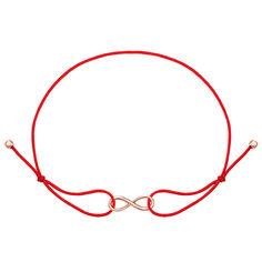 Шелковый браслет с вставкой из красного золота 000121592 000121592 б/р размера от Zlato