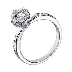 Серебряное кольцо с фианитами 000125450 000125450 15.5 размера от Zlato