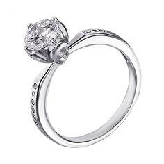 Серебряное кольцо с фианитами 000125450 000125450 15 размера от Zlato