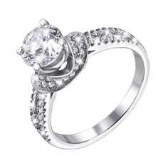Серебряное кольцо с фианитами 000126093 000126093 17 размера от Zlato