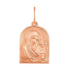 Акция на Ладанка из красного золота Казанская Божья Матерь 000126442 000126442 от Zlato