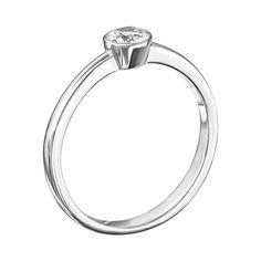Серебряное кольцо с цирконием Swarovski 000127969 000127969 15 размера от Zlato
