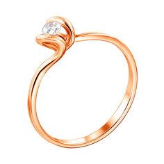 Кольцо из красного золота с бриллиантом 000129713 000129713 17.5 размера от Zlato