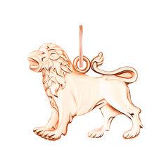 Подвеска Лев из красного золота 000130737 000130737 от Zlato