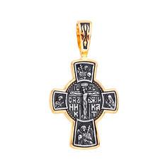 Православный серебряный крестик с позолотой и чернением 000132094 000132094 от Zlato