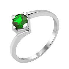 Серебряное кольцо с изумрудом 000134410 000134410 16.5 размера от Zlato