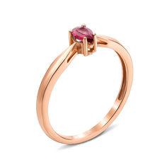 Кольцо из красного золота с рубином 000135386 000135386 17 размера от Zlato