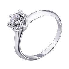 Серебряное кольцо с цирконием 000139909 000139909 17 размера от Zlato