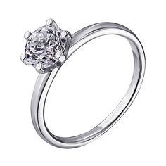 Серебряное кольцо с фианитом 000139904 000139904 17 размера от Zlato