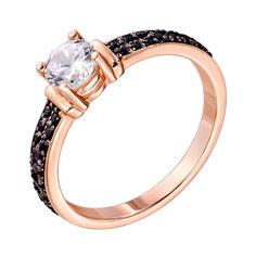 Кольцо из красного золота с цирконием 000140006 000140006 18 размера от Zlato