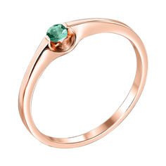 Кольцо из красного золота с изумрудом 000140477 000140477 17 размера от Zlato