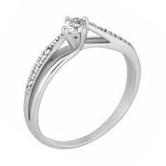 Серебряное кольцо с цирконием 000028094 000028094 17.5 размера от Zlato