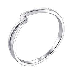 Кольцо из белого золота с бриллиантом 000123040 000123040 17.5 размера от Zlato