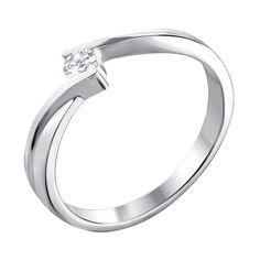 Кольцо из белого золота с бриллиантом 000140452 000140452 16.5 размера от Zlato