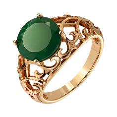 Кольцо из красного золота с агатом 000140093 000140093 17 размера от Zlato