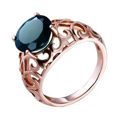 Кольцо из красного золота с агатом 000140093 000140093 16 размера от Zlato