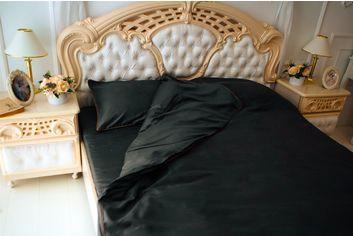 Акция на Комплект постельного белья MirSon Сатин Premium Corner Iron grey 200x220 см (2200001484436) от Rozetka