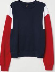 Свитшот H&M XAZ138069FZCU M Темно-синий с красным и белым (DD2000002852995) от Rozetka