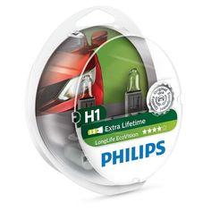 Лампа галогеновая Philips H1 LongLife EcoVision (12258LLECOS2) от MOYO