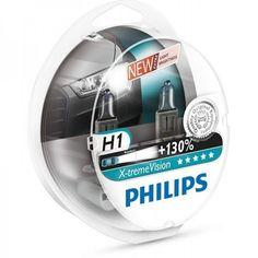 Лампа галогеновая Philips H1 X-treme VISION +130% (12258XV+S2) от MOYO