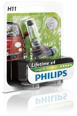 Акция на Лампа галогеновая Philips H11 LongLife EcoVision (12362LLECOB1) от MOYO